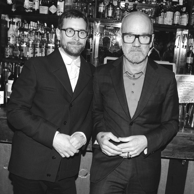 Thomas Dozol and Michael Stipe attend SAG-AFTRA Hosts A Dinner To Commemorate The 50th Anniversary Of Stonewall. Photograph: Paul Bruinooge/Patrick McMullan via Getty
