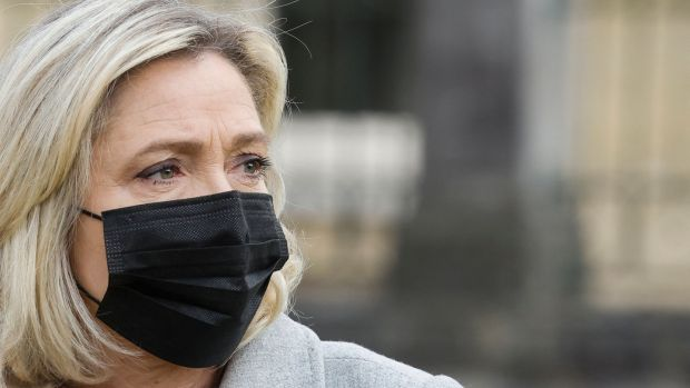 "Far-right Rassemblement National (RN) party's president Marine Le Pen qualified her support for the generals' letter: ""I think these problems can be resolved by a political project that is validated by the French in a democratic framework."" Photograph: Ludovic Marin/AFP"