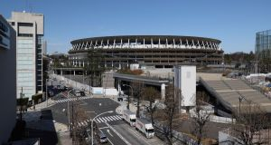 A view of the National Stadium in Tokyo. ahead of the Olympic Games. Photo: Getty Images