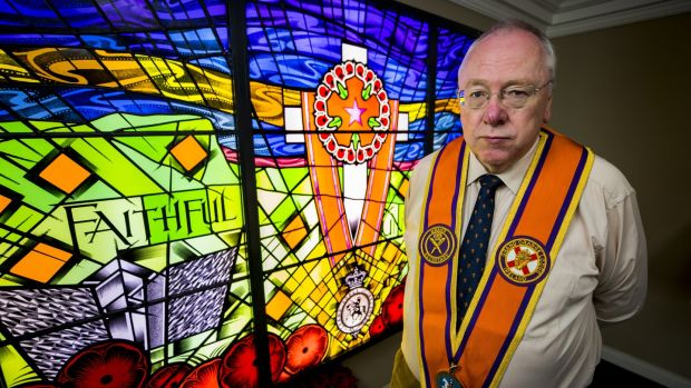 Orange Order grand secretary Mervyn Gibson. In March, the order ended its involvement with the Taoiseach's 'Shared Island' unit, criticising the Government's 'lack of regard' for unionism. Photograph: Liam McBurney