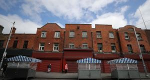 Pádraig Pearse surrendered to British forces on April 30th, 1916, from this terrace of houses on Moore Street at the end of the Easter Rising. File photograph: The Irish Times