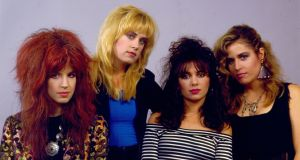 The Bangles: Michael Steele, Debbi Peterson, Susanna Hoffs and Vicki Peterson in the mid-1980s. Photograph: Paul Natkin/WireImage via Getty