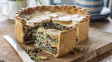 A delicious picnic pie that delivers a dose of sunshine in every bite