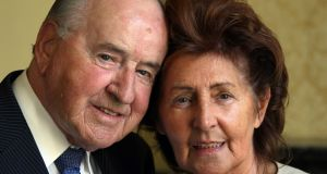 Former taoiseach, Albert Reynolds pictured with his wife Kathleen at the Royal College of Physicians in 2009. File Photograph: Colin Keegan/Collins