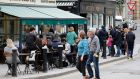 Outdoor dining on South William Street in Dublin last September. Photograph: Crispin Rodwell