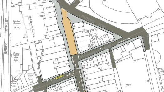 The section of Capel Street proposed for pedestrianisation. The rest of the street will allow traffic. Photograph: Dublin City Council