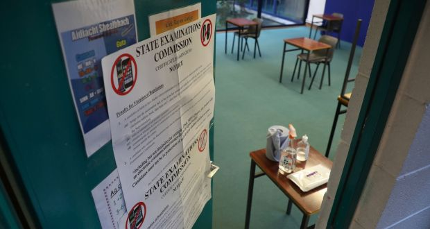 "Many Leaving Cert students  are ""terrified"" about testing positive for Covid-19 or being designated a close contact and jeopardising their chances of sitting the written exams. Photograph: Nick Bradshaw"