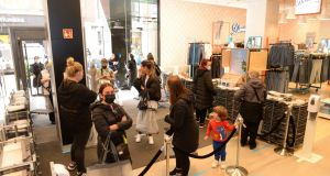 Penneys as non-essential retail opens for click-and-collect and appointment-only shopping: A significant proportion of our population, one in five respondents, are non-committal or at best lukewarm about their plan to take the vaccine. Photograph: Dara Mac Dónaill