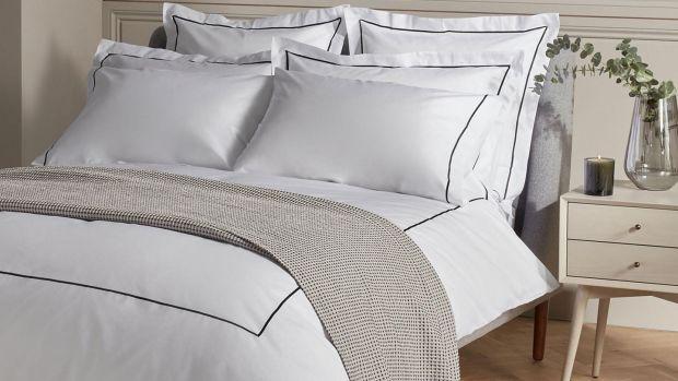John Lewis & Partners Harlow Eqyptian cotton duvet cover €120-€140, Arnotts.