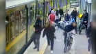 Girl falls under train after being assaulted