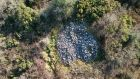An overhead view of the Coolnacarrick Cairn discovered in Co Laois