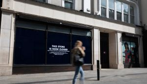 The closed former Tommy Hilfiger store on Grafton Street. Photograph: Damien Eagers/The Irish Times