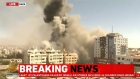 Al Jazeera broadcast live the air raid boming of theiroffices in Gaza City
