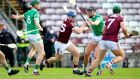 Galway's Joe Canning and Gearoid Hegarty of Limerick in action during Sunday's league encounter. Photograph: Ryan Byrne/Inpho