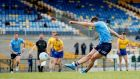 Cormac Costello scores a late point for Dublin from the penalty spot in their win over Roscommon. Photograph: James Crombie/Inpho