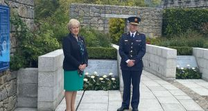 Minister for                   Justice Heather Humphreys and Garda Commissioner Drew                   Harris at the ceremony. Photograph: Tim O'Brien