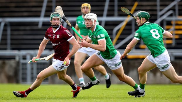 Cathal Mannion's distribution of the ball from deep positions as a roving midfielder has been very impressive in the league. Photograph: Ryan Byrne/Inpho
