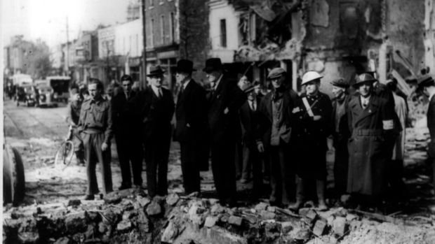 The impact of the bomb blast was catastrophic: 28 people were killed, 90 injured and 300 houses were destroyed, leaving 400 people homeless. File photograph: The Irish Times