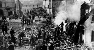 May 31st, 1941: Four bombs are dropped over Dublin city by Luftwaffe aircraft. The fourth explosion rips through the North Strand Road. File photograph: The Irish Times
