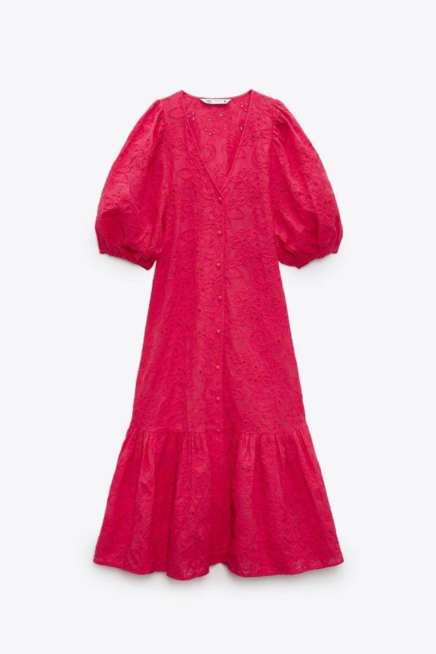 Red dress, €49.95, Zara.