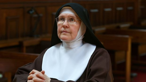 Sr Colette during the choir (Adoration). Photograph: Joe O Shaughnessy