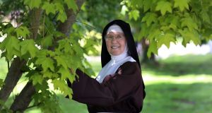 Sr Colette in the garden at the Poor Clare monastery, Nun's Island, Galway. Photograph: Joe O'Shaughnessy