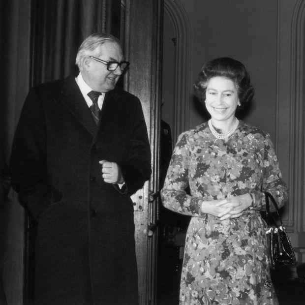 James Callaghan with Queen Elizabeth in 1977. Photograph: David Ashdown / Keystone / Getty