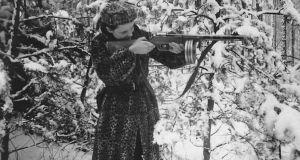 An undated photo of herself by Faye Schulman (then known as Faigel Lazebnik), via Second Story Press. Photograph: Faye Schulman