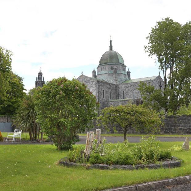 View of Galway Cathedral from the garden of the Poor Clare Monastery. Photograph: Joe O'Shaughnessy