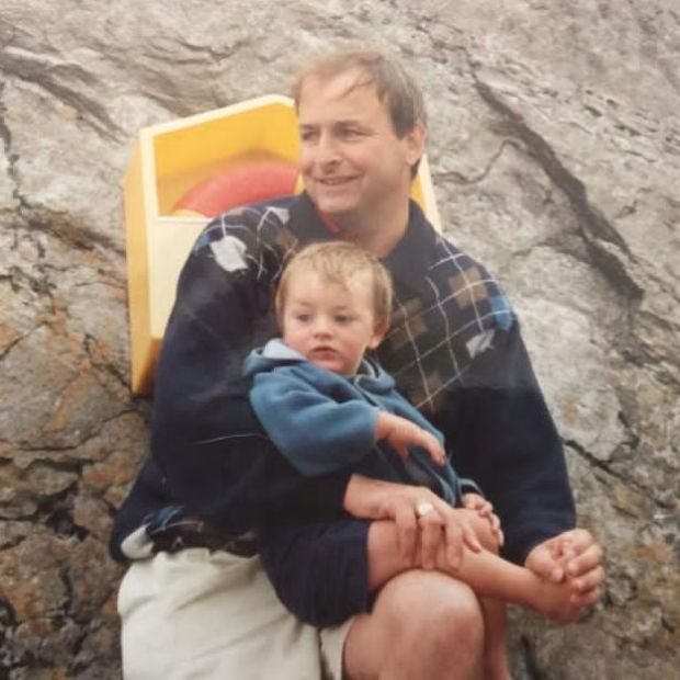 Micheál Martin with his son Cillian