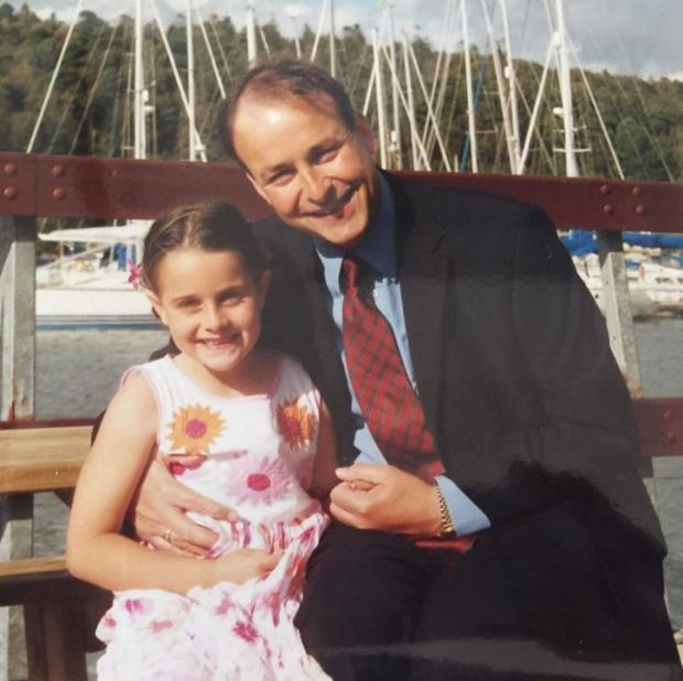 Micheál Martin with his daughter Aoibhe