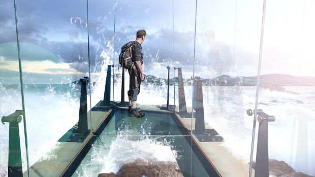 Artist's impression of a glass walkway planned for Fort Dunree & Head in Co Donegal.