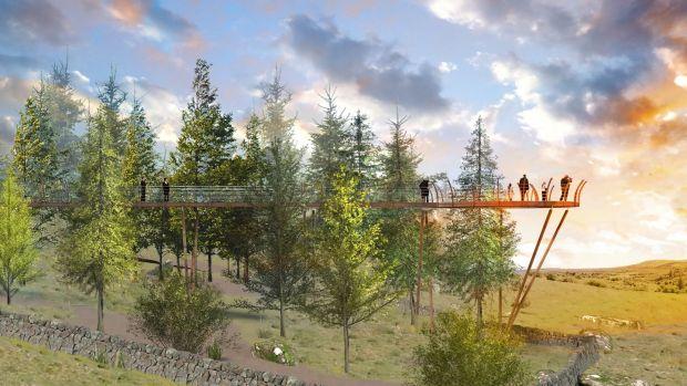 Artist's impression of a planned walkway at Cavan Burren Park.