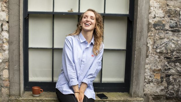 Niamh from NimCo in classic blue Ilk shirt