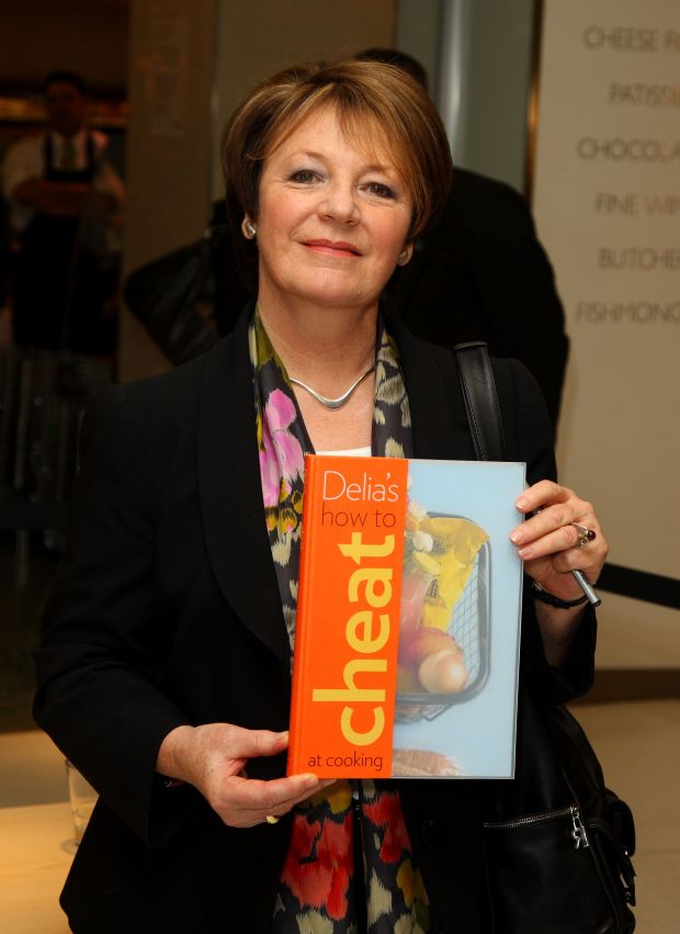 Delia Smith signs copies of her new book `How To Cheat At Cooking' in 2008. Photograph: Mike Marsland/WireImage