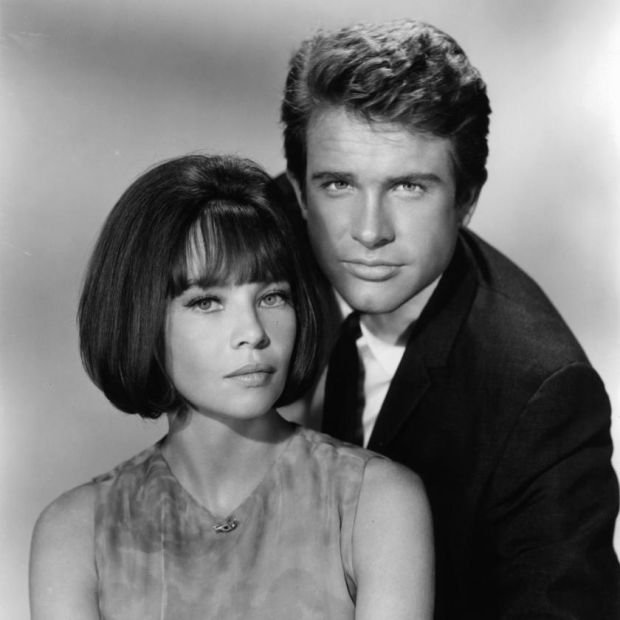 Caron and Warren Beatty in 1965's Promise Her Anything: 'He loved to be trailed around by journalists and to have everything you did photographed.'Photograph: Paramount/Getty