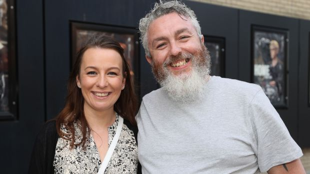 Jenny and Danny Fitzpatrick before the show. Photograph: Nick Bradshaw/The Irish Times