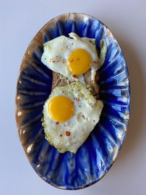 Rosita Boland's pesto eggs