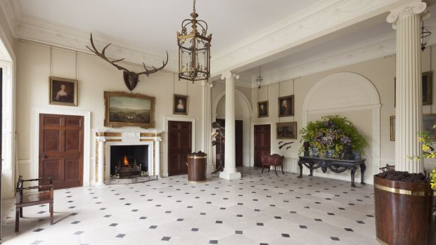 An interior view of Abbey Leix mansion