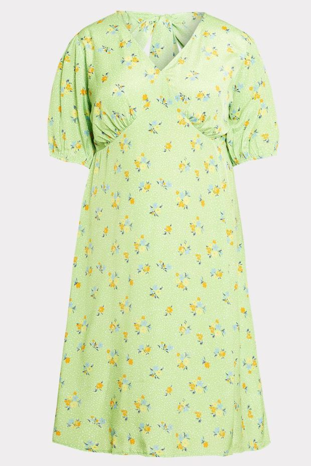 8. Floral midi-dress, £32, from the Curve Collection at Neon Rose