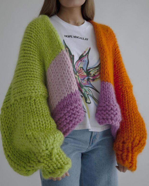 3.Wonderland chunky knit cardigan, £320, Hope Macaulay