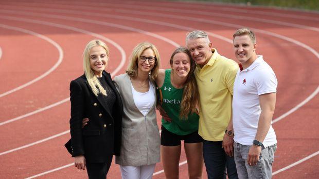 Paralympic athlete Greta Streimikytewith her sister Emilija, parents Asta and Raimundas and brother Arnas. Photograph: Nick Bradshaw/The Irish Times