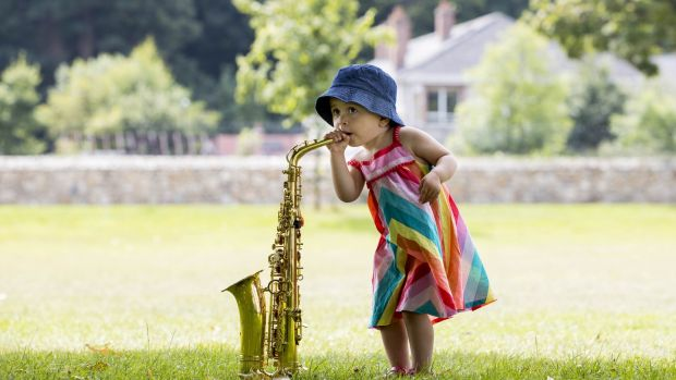 Summer Songs: Sophia Poveda (2) of Delgany, Co Wicklow, at People's Park in Bray.  Photography: Andres Poveda