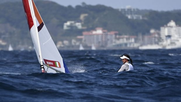 Ireland's Annalise Murphy competes in the women's laser radial. Photo: Olivier Morin/AFP via Getty Images
