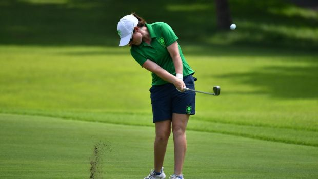 Ireland's Leona Maguire plays a stroke in the first round of women's individual strokeplay at the Olympic Games Tokyo 2020. Photo: Kazuhiro Nogi / AFP via Getty Images