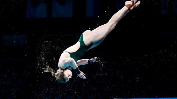 Irish Tanya Watson in the women's 10m platform.  Photo: Bryan Keane / Inpho