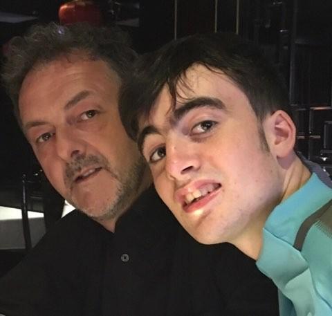 Brendan Hogan and his son Ben from Ballon, Co Carlow.