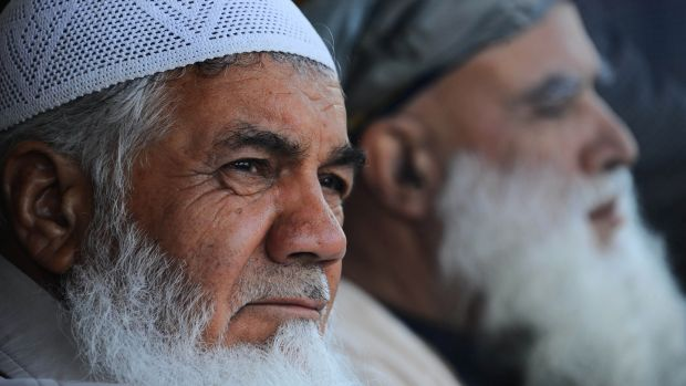 Veteran Afghanwarlord Mohammad Ismail Khan in March, 2014. Photograph: Aref Karimi/AFP via Getty Images