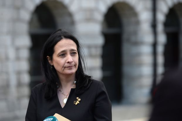 Minister for Culture and Arts Catherine Martin told entertainment industry stakeholders that she tried to get the Cabinet Covid-19 subcommittee to agree to dates for reopening but it was not approved. Photograph: Dara Mac Dónaill
