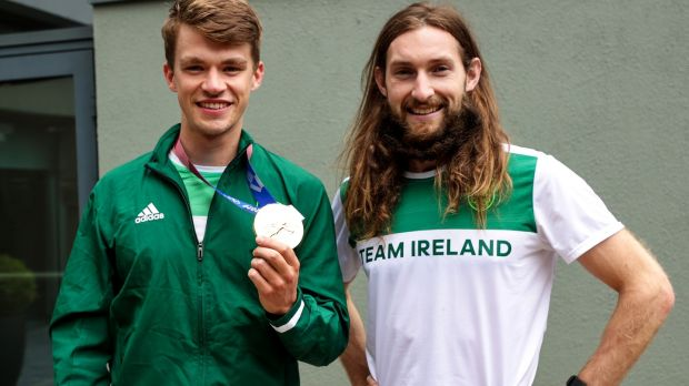 Ireland's Olympic gold medalists Fintan McCarthy and Paul O'Donovan are competing in this weekend's national rowing championships. File photograph: Inpho